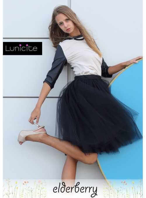 Lunicite BLACK ELDER – exclusive tulle skirt from herb collection