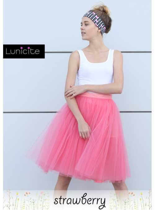 Lunicite WILD STRAWBERRY – exclusive tulle skirt from herb collection