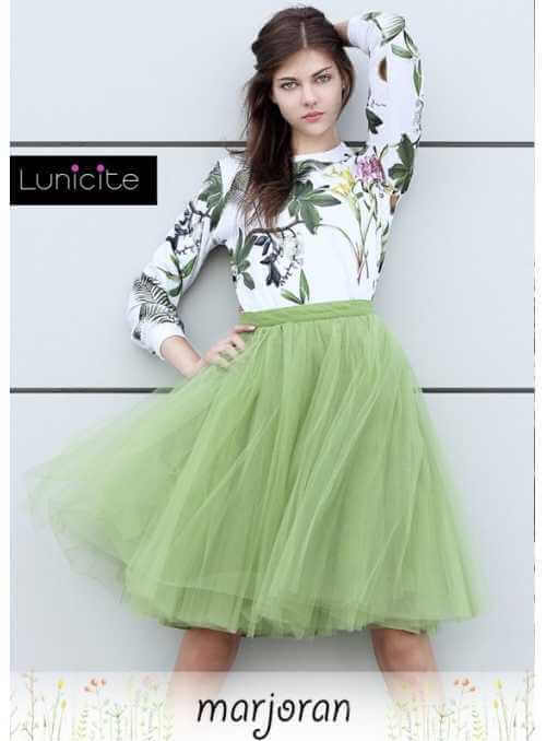 Lunicite MARJORAM – exclusive tulle skirt from herb collection