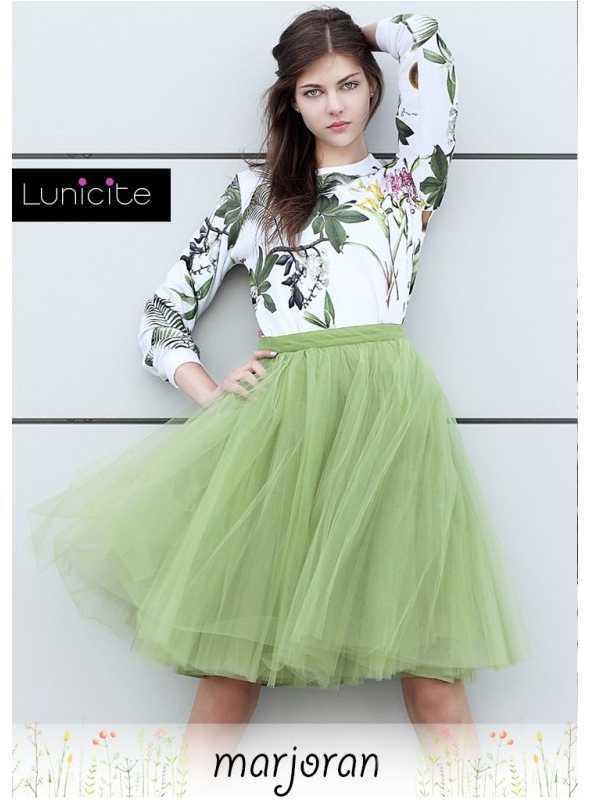 Lunicite MAJORÁNKA – exkluzívna tylová sukňa z bylinkovej kolekcie