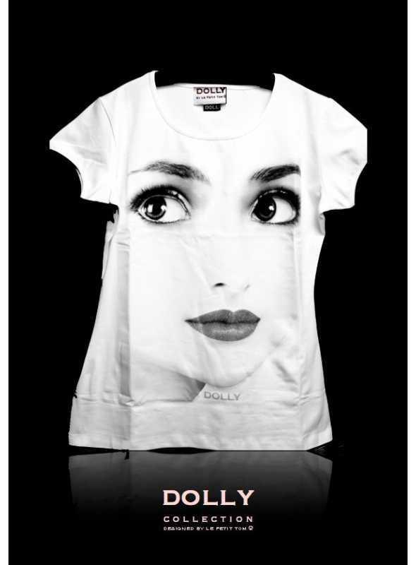 """DOLLY značkové tričko """"DOLLY face"""""""