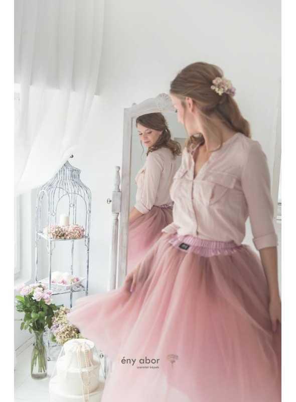 ROMANTICKÁ DLHÁ TUTU pudrovo ružová