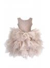 Exkluzívne Plié šaty s čipkou, saténovým pásom a odnímateľnou mašľou, biele