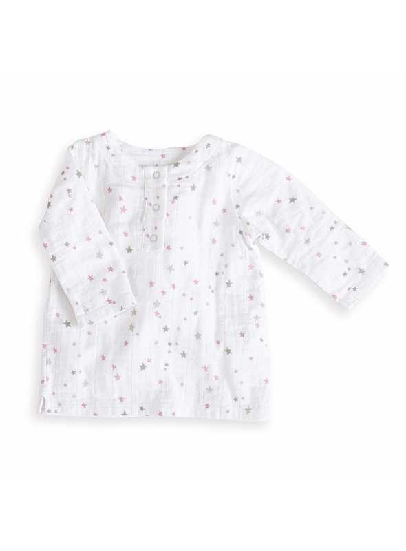 Long-sleeved tunic Pink stars Aden&Anais