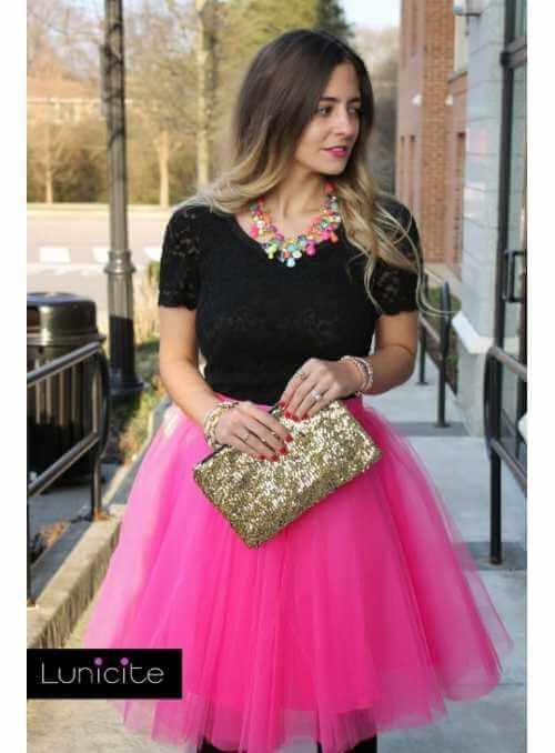 Lunicite FUCHSIA TULIP – exclusive tulle skirt fuchsia