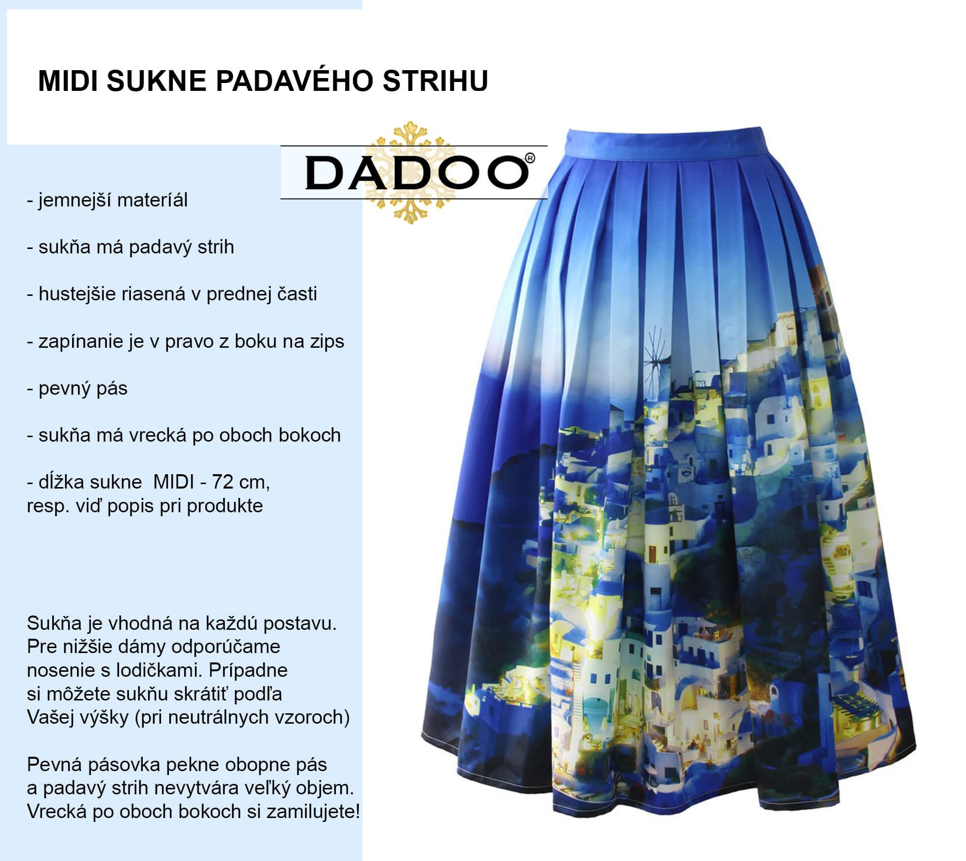 9b2a1897427f Midi sukne – trendy sukne na každý deň! Vyber si zo širokej ponuky  MIDINIEK. Na prvý pohľad Vás upútajú farebnou potlačou. Typovo Ti ponúkame  niekoľko ...