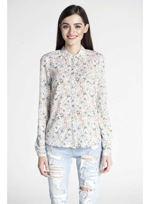 Spring long-sleeved blouse + possible to tuck up to short sleeves