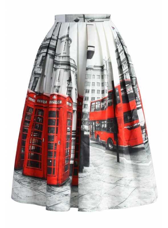 "Midi skirt ""London walk"""