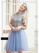 Lunicite falling Cobalt - exclusive tulle skirt cobalt blue