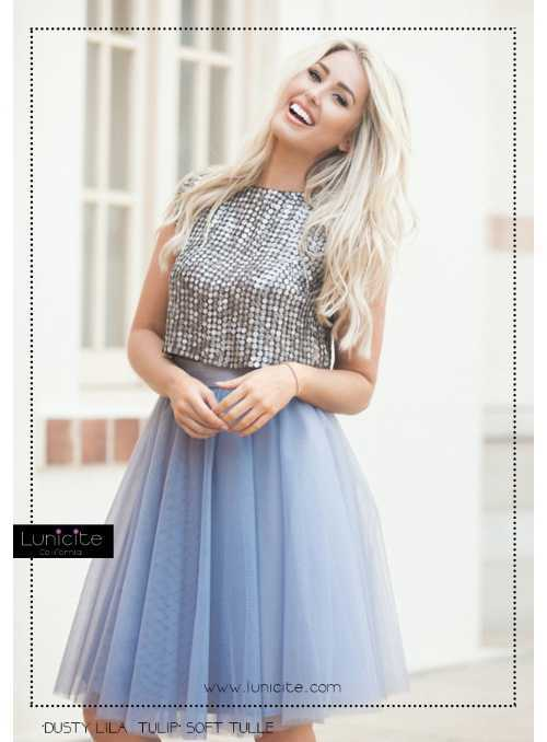 Lunicite falling Cobalt - exclusive tulle skirt cobalt blue