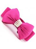 Rozkošný opasok s veľkou mašľou – ružový + perličky