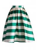 """Midi skirt """"Pastel skirt with stripes'"""