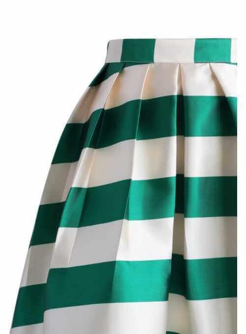"Midi sukňa "" Pastelová sukňa s pásikmi"""