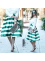 """Midi skirt """" Pastel skirt with stripes"""""""
