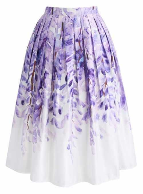 "Midi skirt ""Divine lilac"""