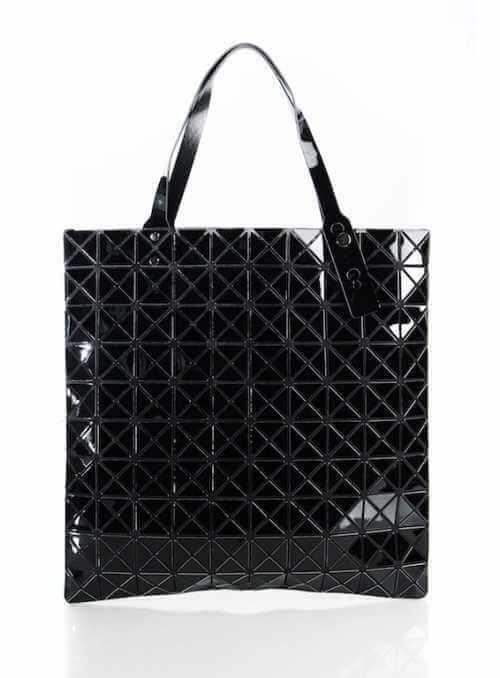 40x40 Čierna lesklá CUBE – Maxi kabelka
