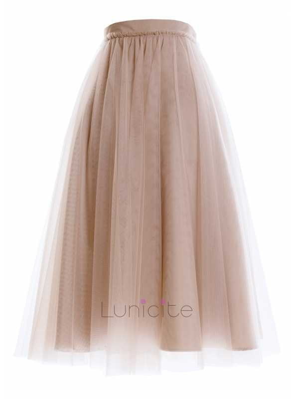 Lunicite ČIERNY HRÁŠOK – exkluzívna tylová sukňa s bodkami, čierna
