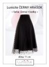 7b365ef7e5db Lunicite ČIERNY HRÁŠOK – exkluzívna tylová sukňa s bodkami