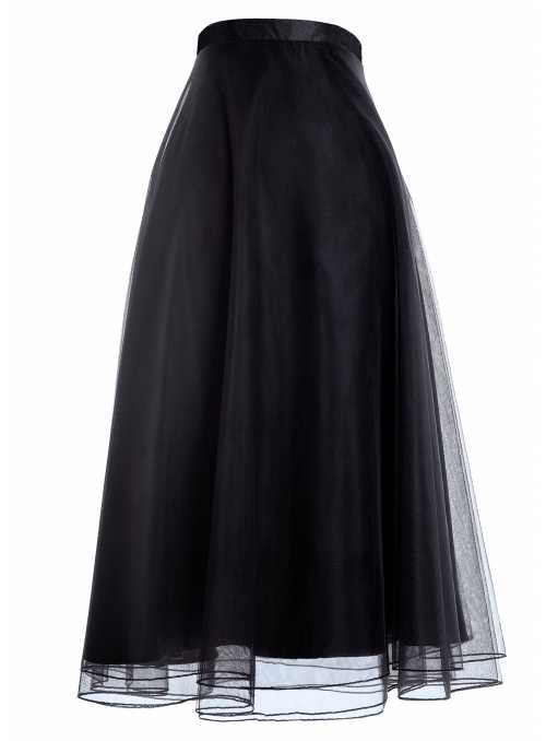 Lunicite Blackberry- Droopy chiffon skirt