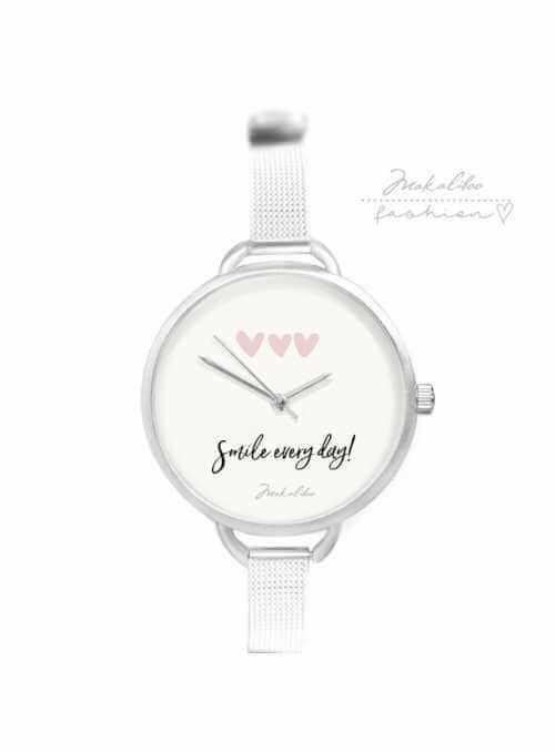 """Hodinky """"SIMPLY SMILE"""" – dámske jednoduché hodinky s citátom"""