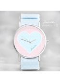 "Watch ""LOVE HEART DOTS"" - Ladies watch pastel colors"