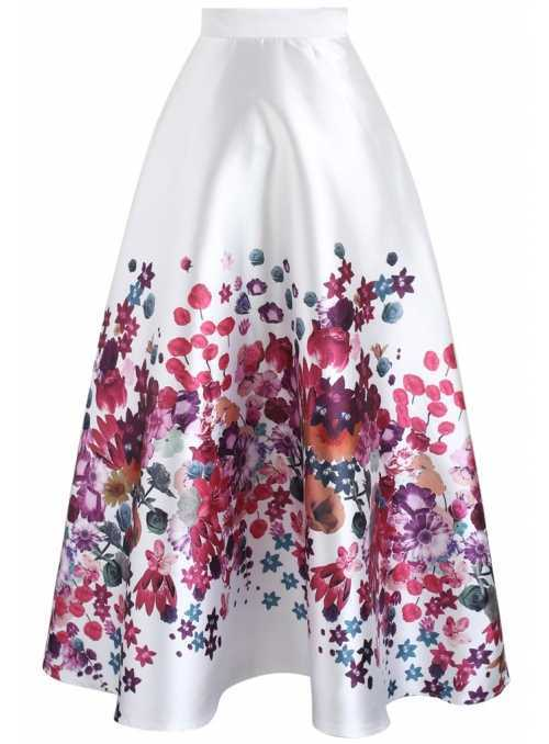 "Maxi Skirt ""Blooming garden"""