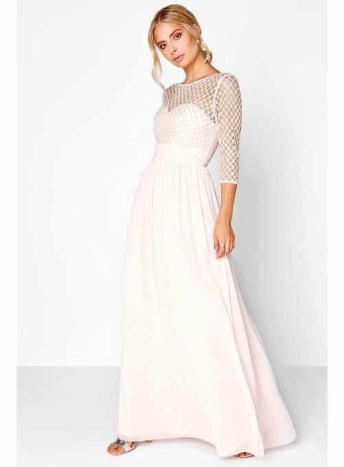 """Maxi Dress """"Beige Pearls"""""""