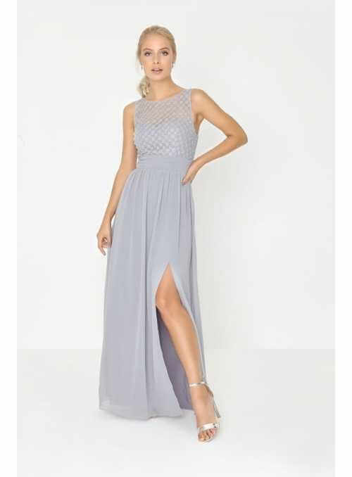 "Maxi Dress ""Silver Pearls"""