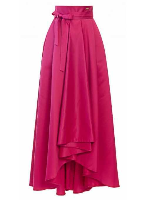 "Maxi skirt ""Fuchsia with a bow"""