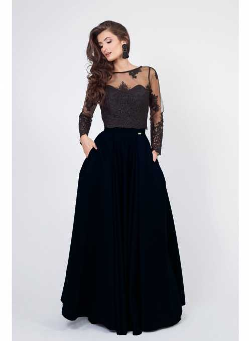 "Maxi Skirt ""Black Night"""