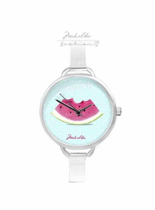 """Hodinky """"WATERMELON"""" – dámske hodinky s kúskom melóna"""