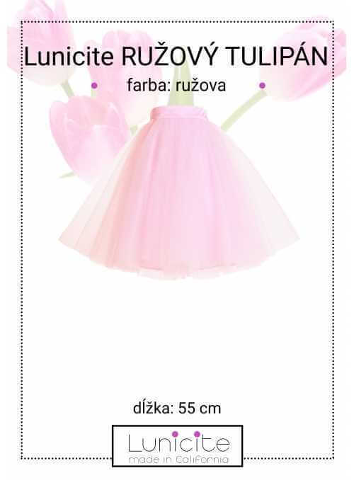 Lunicite PINK TULIPS - exclusive tulle skirt pale pink, length 55 cm