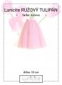 Lunicite RUŽOVÝ TULIPÁN – exkluzívna tylová sukňa bledo ružová, dĺžka 55cm