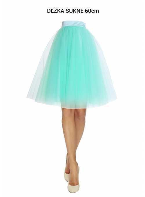 Lunicite MENTOLOVÝ TULIPÁN – exkluzivní tylová sukně mentolová, 60cm