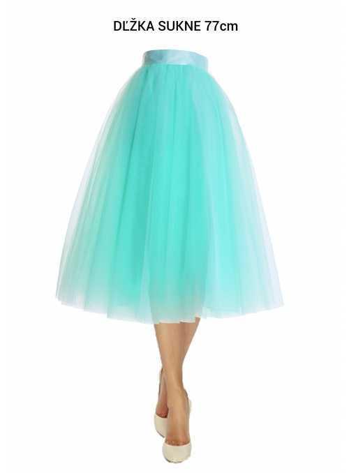 Lunicite MINT TULIP - exclusive tulle skirt menthol, 77 cm