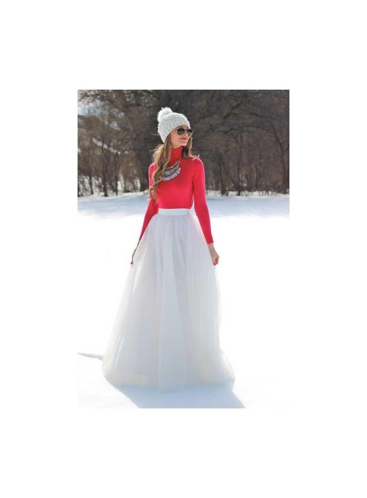 Lunicite BIELY TULIPÁN – exkluzívna tylová sukňa krémovo biela ... dc6facf20b