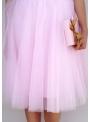 Lunicite RUŽOVÝ TULIPÁN – exkluzívna tylová sukňa bledo ružová, 60cm