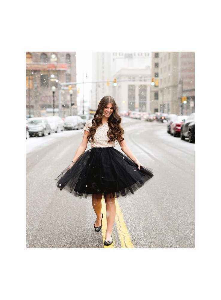c0de49742c2f ... Lunicite ČIERNY TULIPÁN – exkluzívna tylová sukňa čierna