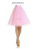 Lunicite PINK TULIP - exclusive tulle skirt pale pink 60cm