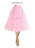 Lunicite RŮŽOVÝ TULIPÁN – exkluzivní tylová sukně bledě růžová, 77cm