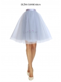 Lunicite GRAY TULIP - exclusive tulle skirt silvery gray 60cm