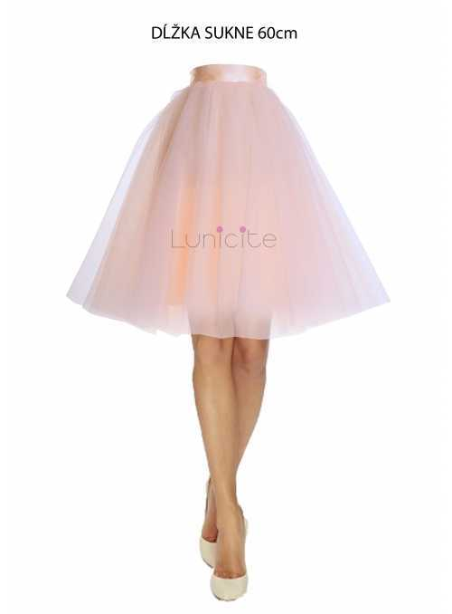 Lunicite PEACH TULIP - exclusive tulle skirt peach 60cm