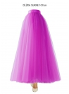 Lunicite ŽIARIVÝ TULIPÁN LILA – exkluzívna tylová sukňa žiarivá lila, 107cm