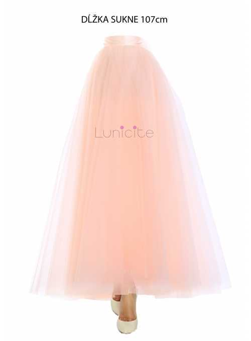 Lunicite PEACH TULIP - exclusive tulle skirt peach, 107 cm