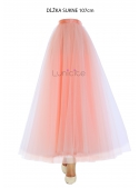 Lunicite POWDER TULIP - exclusive tulle skirt powdery pink, length 107 cm