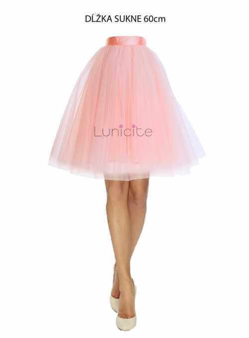 Lunicite POWDER TULIP - exclusive tulle skirt powdery pink, 60cm