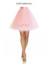 Lunicite PUDROVÝ TULIPÁN – exkluzívna tylová sukňa pudrovo ružová, dĺžka 55cm