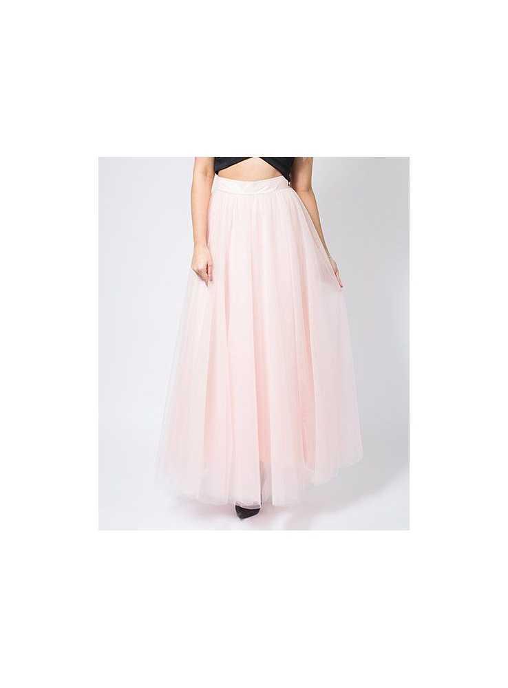 Lunicite PUDROVÝ TULIPÁN – exkluzívna tylová sukňa pudrovo ružová ... 78ad6d38d2