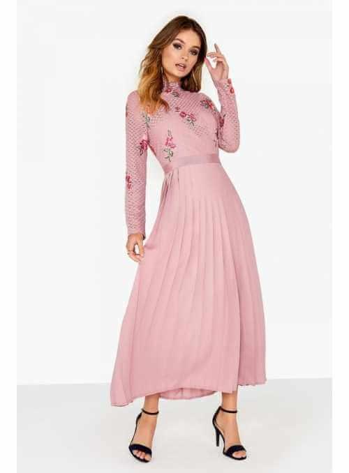 "a3c0d5615cdb Maxi šaty ""Pinky flowers"""