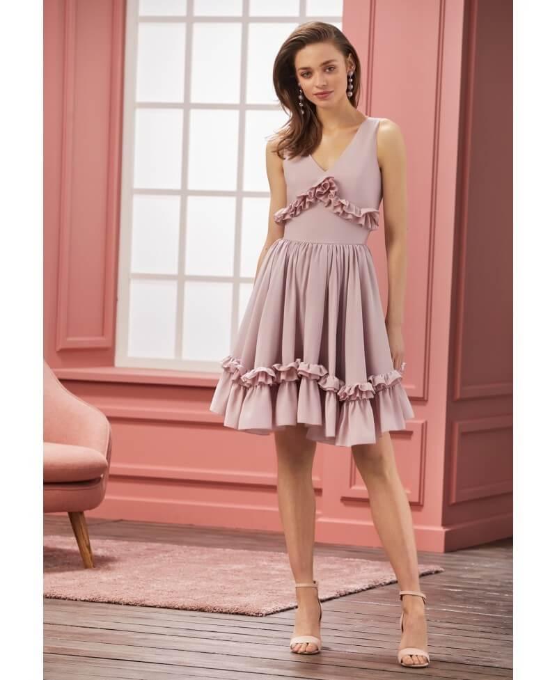 "046bd349b34a Šaty ""CHANTELLE"" - dámske ružové šaty - Dadoo"